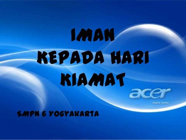 IMANKEPADA HARIKIAMATSMPN 6 Yogyakarta
