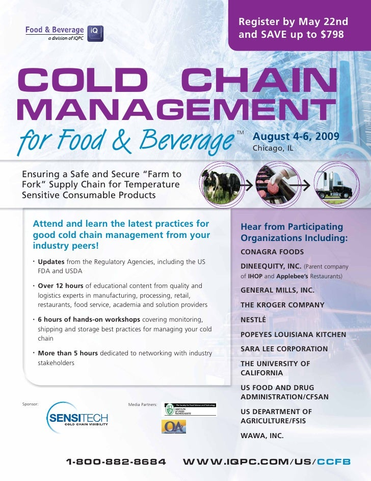 Register by May 22nd                                                                       and SAVE up to $798     Cold Ch...