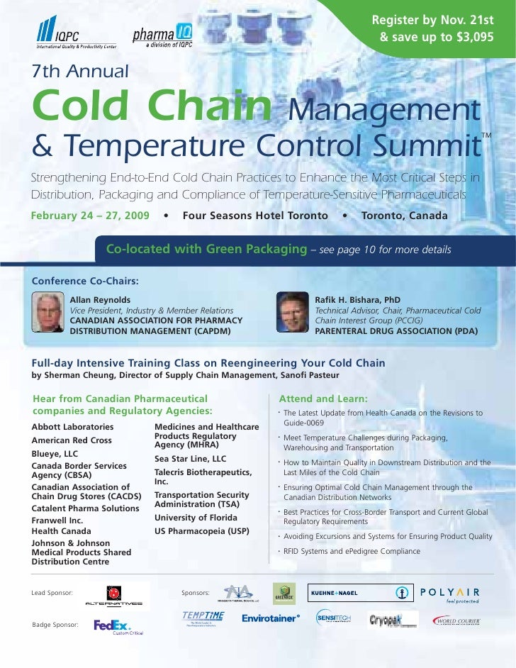 7th Cold Chain Management & Temperature Control Summit