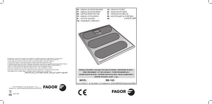 Im bb 165 - Servicio Tecnico Fagor