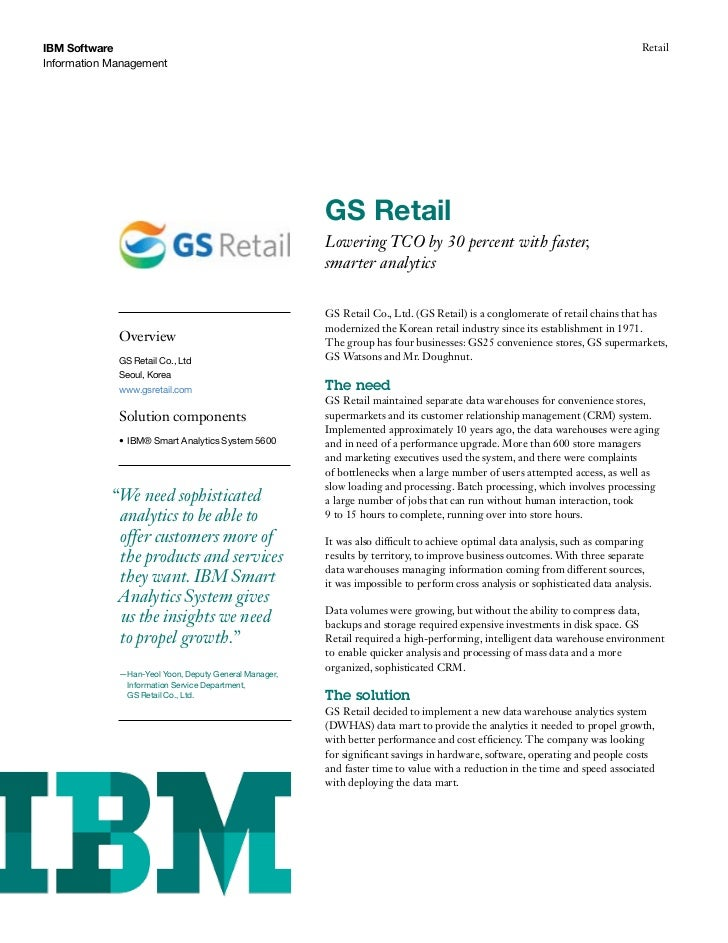 GS Retail Lowering TCO by 30 percent with faster, smarter analytics