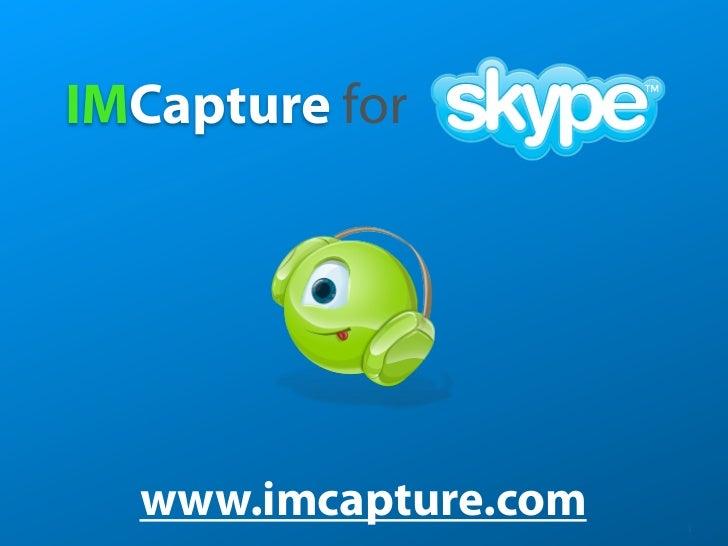 IMCapture for skype