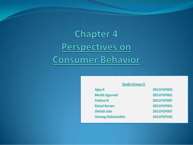 Perspectives on consumer Behaviour