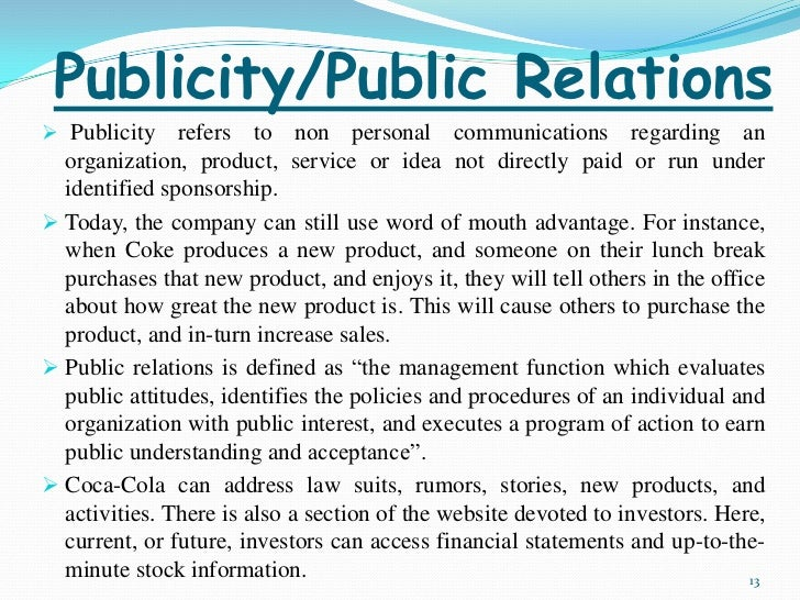 integrated marketing communication and tools of public relation One of which is the concept of integrated marketing  executives that public relation is one of the most effective integrated marketing communication tools.