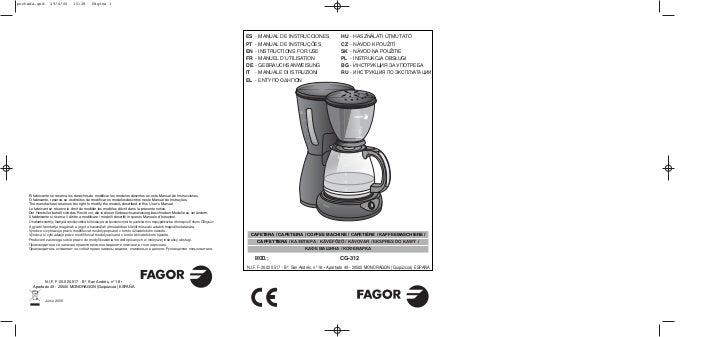 Im cg 312 -13id - Servicio Tecnico Fagor