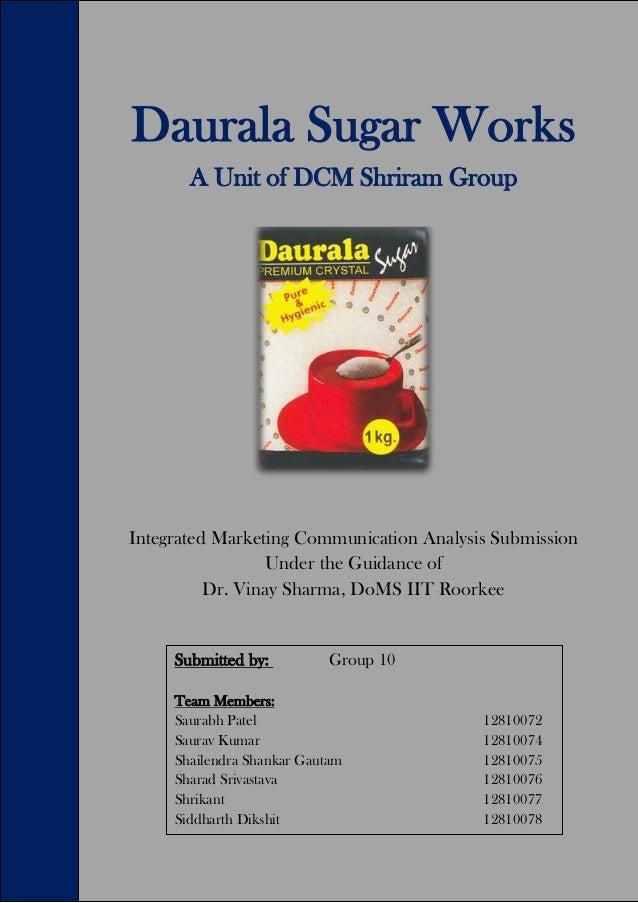 Marketing Strategy - Daurala Sugar Works