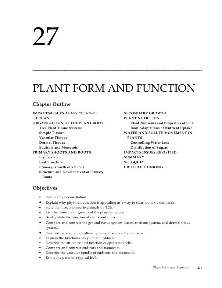 27______________________________________________________________________________________________PLANT FORM AND FUNCTIONCha...