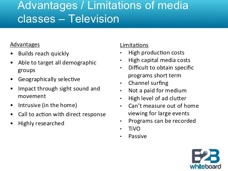advantage and disadvantages of media in sports Usually, it is cheaper than other media, it can be aimed at a narrow audience and  can  6+ advantages and disadvantages of radio advertising | tinobusiness   but many point to niche markets, such as adolescents, sports fans, news junkies, .