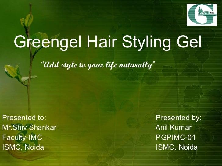 marketing plan of an herbal hair styling gel