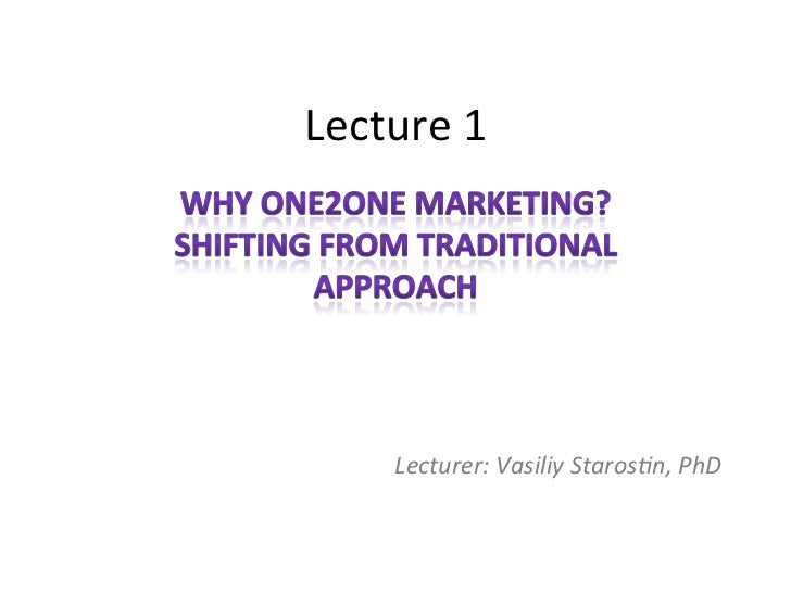 One2one marketing seminar 1