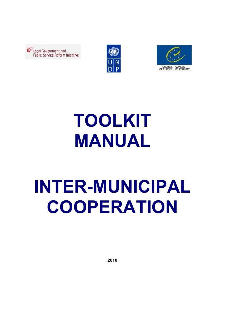 TOOLKIT   MANUALINTER-MUNICIPAL  COOPERATION       2010