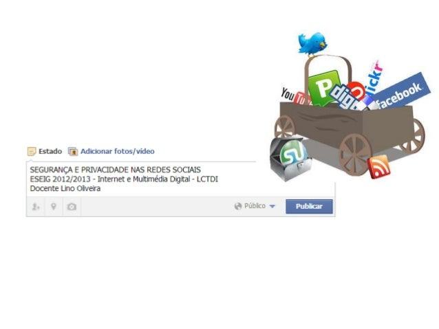 Em 2013 a empresa eBizMBA divulgou as dez redes sociais mais utilizadas:- Facebook- Twitter- LinkedIn- Pinterest- MySpace-...