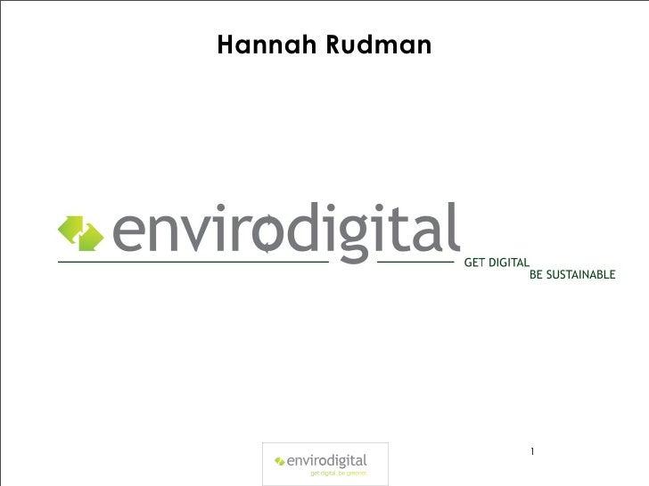 Hannah Rudman                1