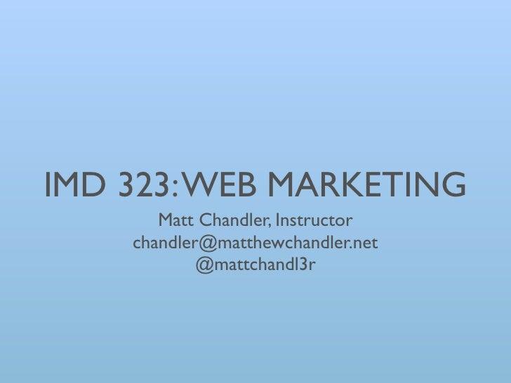Imd323 week 1 part 1