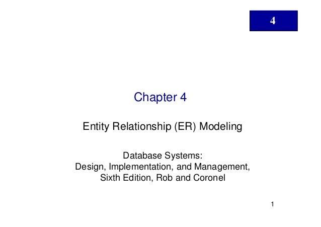 4             Chapter 4 Entity Relationship (ER) Modeling           Database Systems:Design, Implementation, and Managemen...