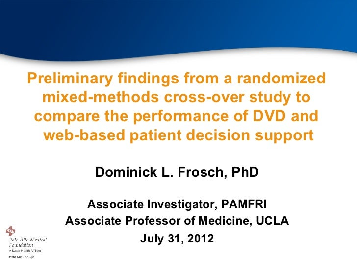 Preliminary findings from a randomized  mixed-methods cross-over study to compare the performance of DVD and  web-based pa...