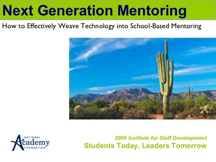 I mentor naf institute_july 2009