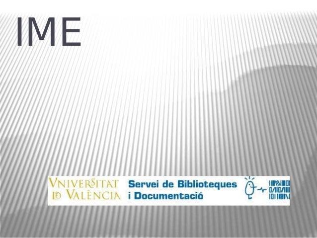 Base de dades IME (Índice Médico Español)