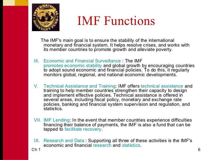 the philosophy of the international monetary fund The international monetary fund as a live case  namely postmodern theory, is  used to teach critical thinking skills in an international business course.