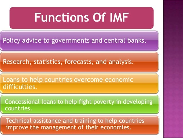 fuctions of imf