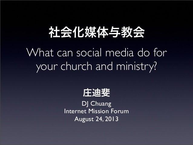 IMF presentation: Social Media and Church