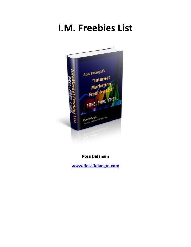 Internet Marketing and Make Money Online Freebie List