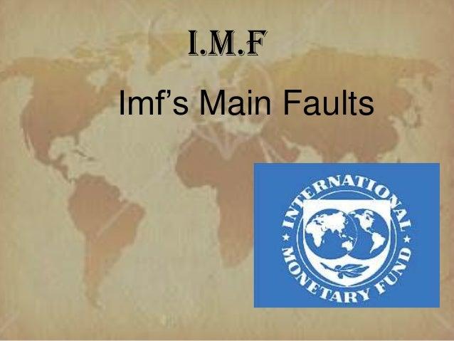 Imf's main fault (imf)