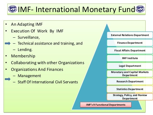 imf objectives and policies Financial stability and monetary policy: consistent with the description in international monetary fund (imf) (2013), the newly emerging paradigm is one in which both ity remains the primary objective of monetary policy and a lexi.