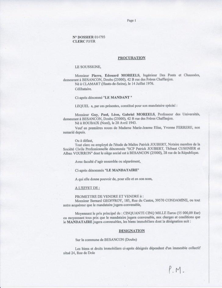 Page   I        NODOSSIER 014793        CLERC PJ/ER                                      PRpCURATTON         LE SOUSSIGNE,...