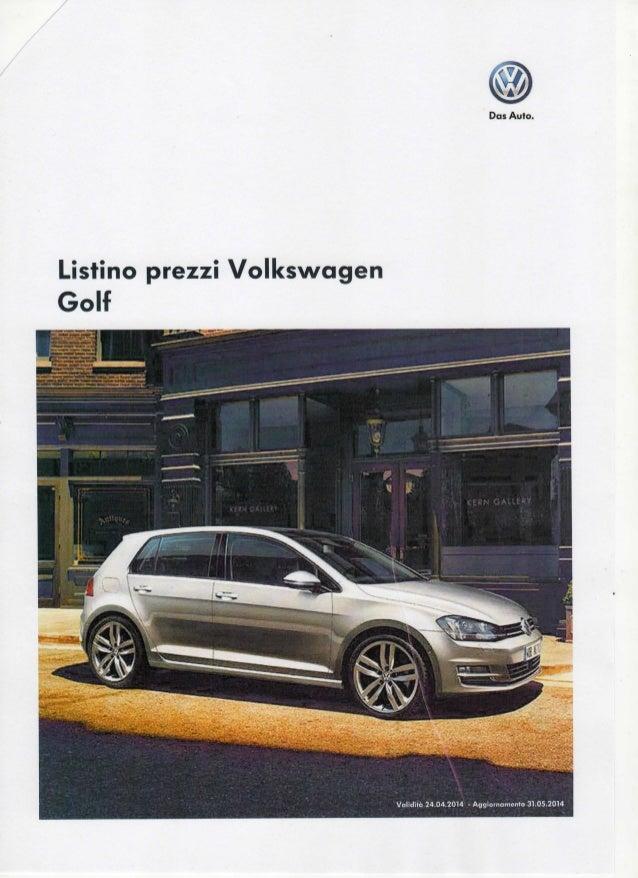 Dos Auto. Listino prezzi Volkswagen Golf ••:
