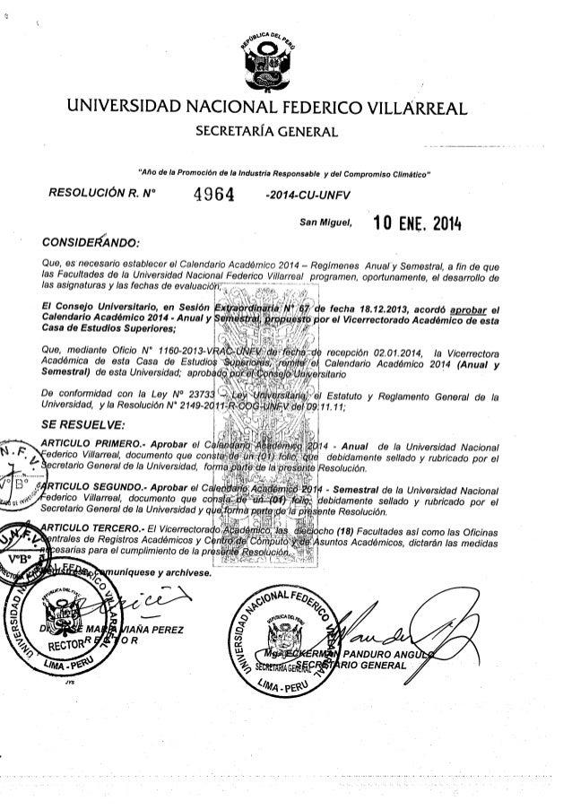 CALENDARIO ACADÉMICO 2014 ANUAL Y SEMESTRAL