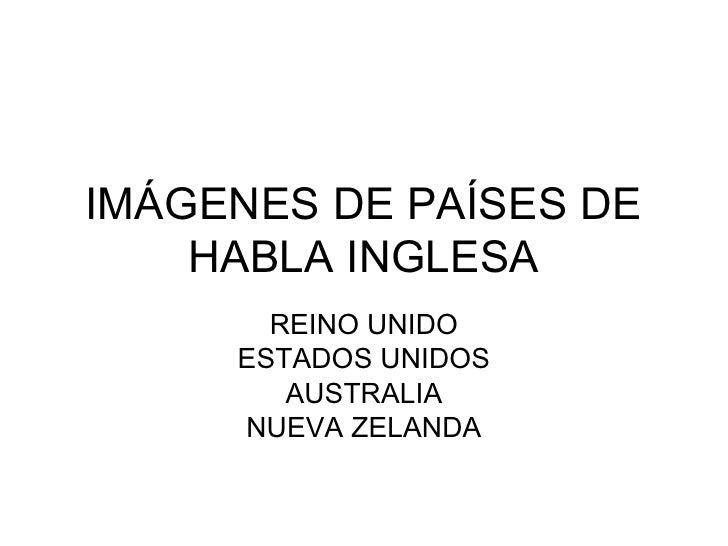 ImáGenes De PaíSes De Habla Inglesa