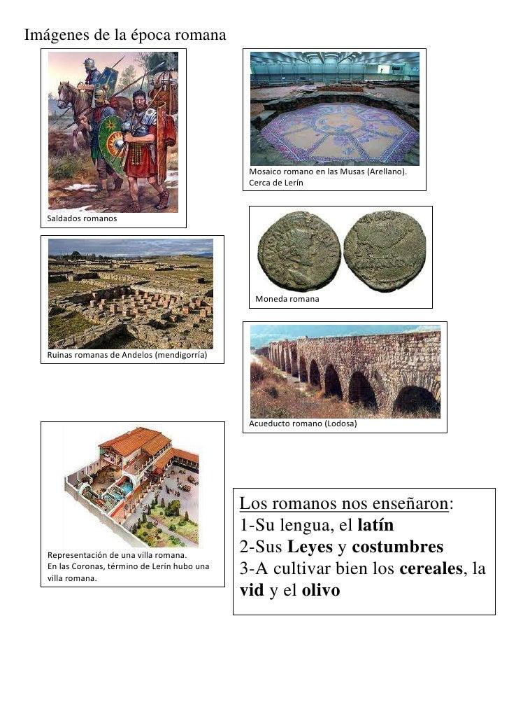 Imágenes de la época romana                                                Mosaico romano en las Musas (Arellano).        ...