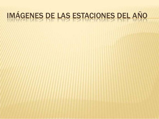 IMÁGENES DE LAS ESTACIONES DEL AÑO