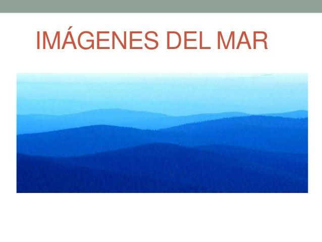 IMÁGENES DEL MAR