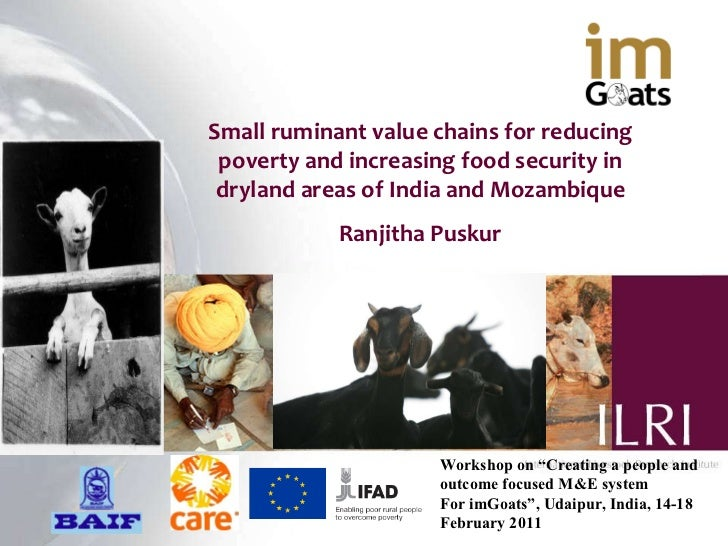 Small ruminant value chains for reducing poverty and increasing food security in dryland areas of India and Mozambique Ran...