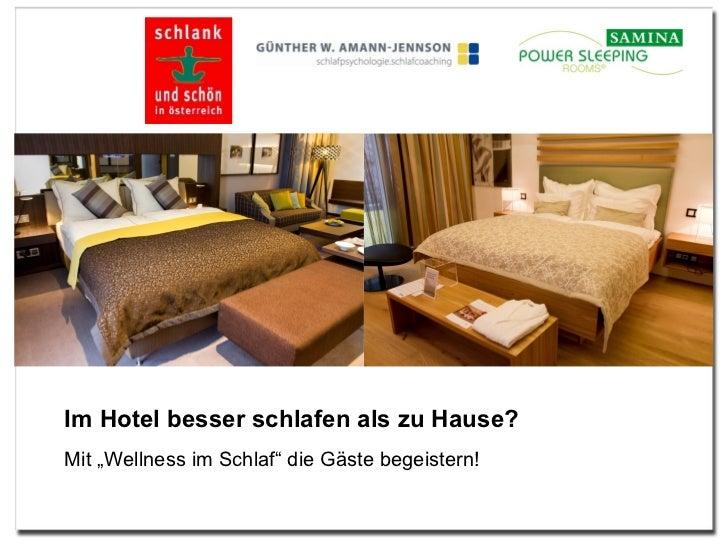 """Im Hotel besser schlafen als zu Hause?  Mit """"Wellness im Schlaf"""" die Gäste begeistern!"""