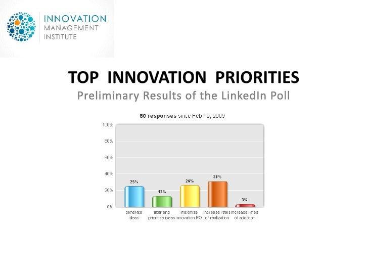 Top Innovation Priorities Poll 2009