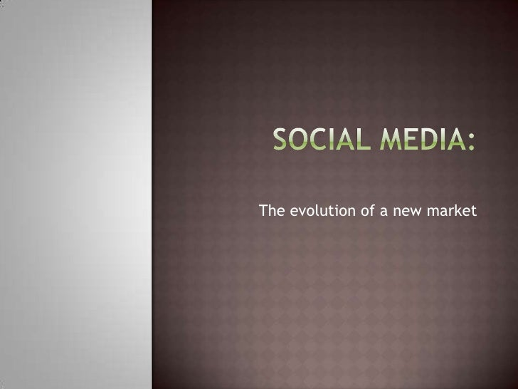 The evolution of a new market