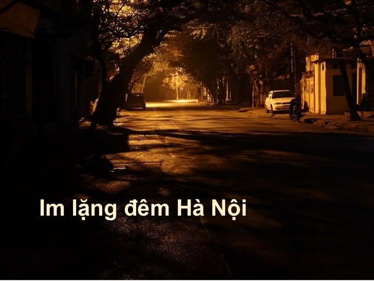 Im lặng đêm Hà Nội