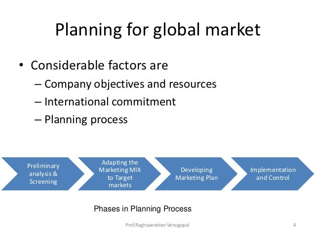 Standardization strategies