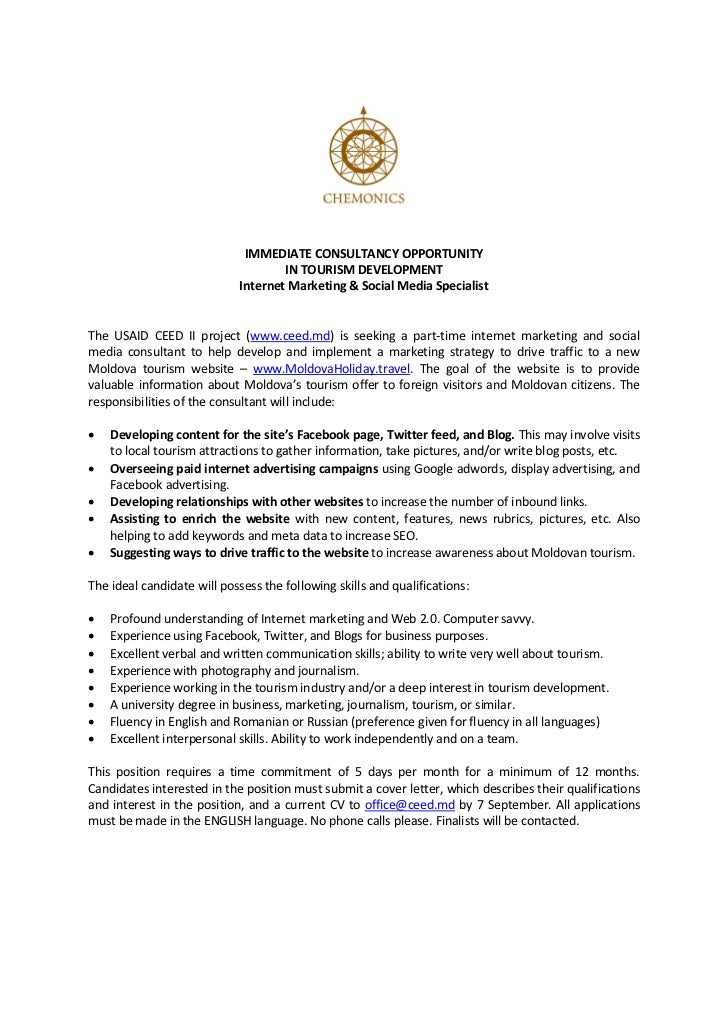 IMMEDIATE CONSULTANCY OPPORTUNITY                                    IN TOURISM DEVELOPMENT                            Int...