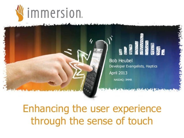 Enhancing the User Experience Through the Sense of Touch with Bob Heubel