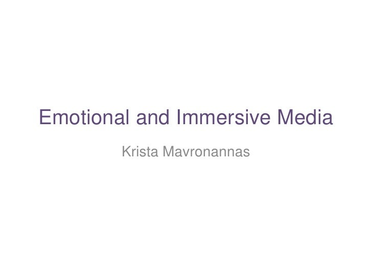 Emotional and Immersive Initial Presentation