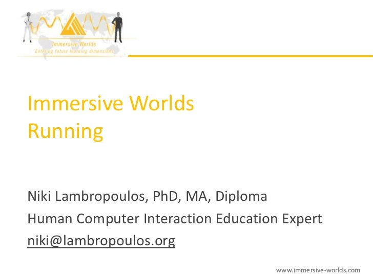 Immersive worlds: Running the Service - A LANETO Group