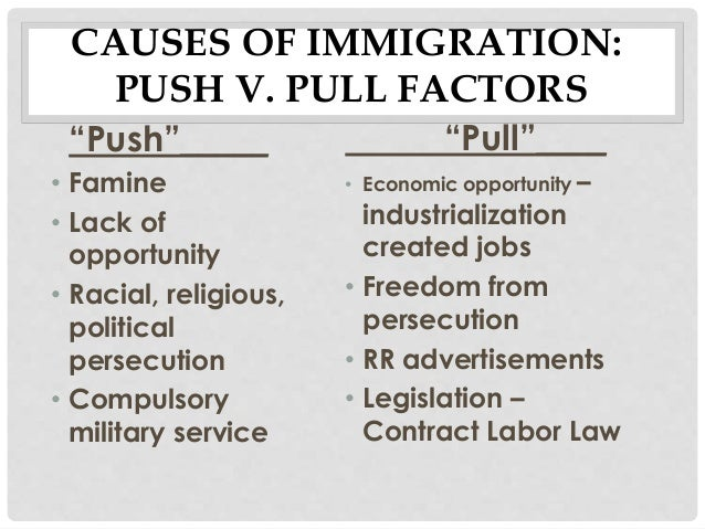 push and pull factors of middle east Migration and growth in east and south-east asia   push and pull factors have a higher weight at the beginning of a migration flow  urban middle  class  n/a.