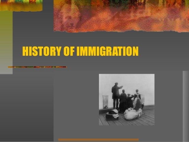 Immigration - A Summary for Grades 5-8