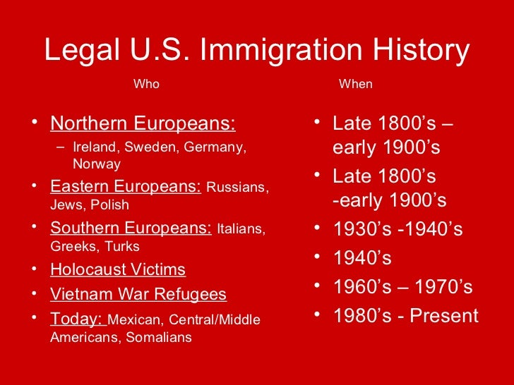 american immigration history The american immigration home page was started as a part of a school project for a 10th grade american history class the project was meant to give information on how immigrants were treated, as well as why they decided to come to america.