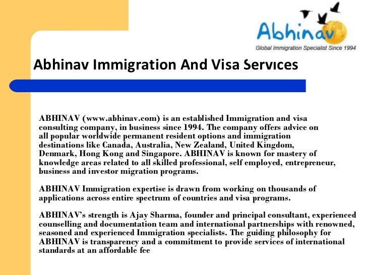 Immigration visas-information-india-ppt