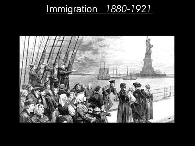 Immigration 1880-1921